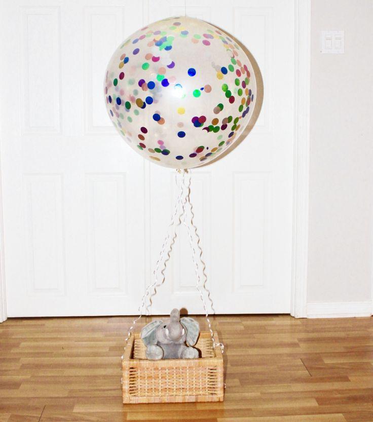 "5pc 36"" +3pc 12"" Jumbo Rainbow Confetti Filled Balloons | Weddings Birthday Christmas and New Year Balloons | Bridal Shower Balloons"