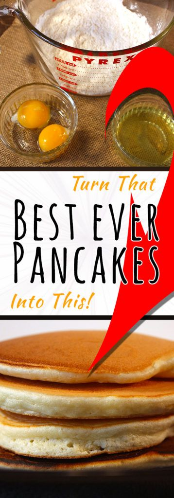 The Best Ever Pancakes - These pancakes are light, fluffy and just slightly crisp around the edges. You will never purchase another pre-made mix!
