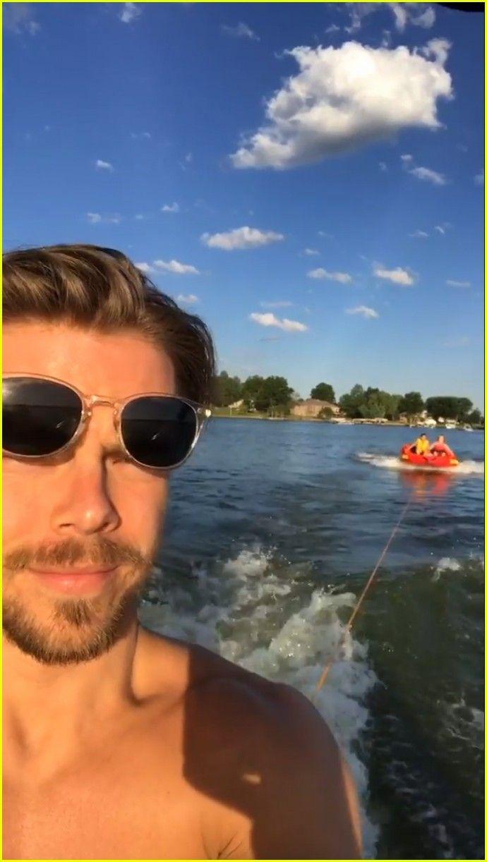 Derek Hough & Girlfriend Hayley Erbert Flaunt PDA at a Lake