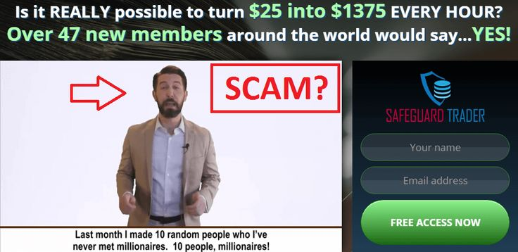 Safeguard Trader by David Hefner is a duplicate of an older binary options scam called GPS Trader! The concepts are identical as well as the actors. Do not trust this services with your money! Full review here:http://binaryscamreview.com/safeguard-trader-scam-review/ #binaryoptions #forex #trade #invest #safeguardtrader #scam #fraud #review #money #rich