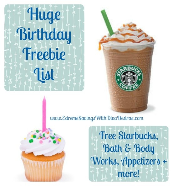 HUGE list of freebies to sign up for your birthday. Who doesn't love freebies? Get pampered on your birthday because you deserve it!