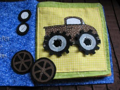 Truck Page (I like having different tires) via. The Craft Patch: Dexter's Quiet Book