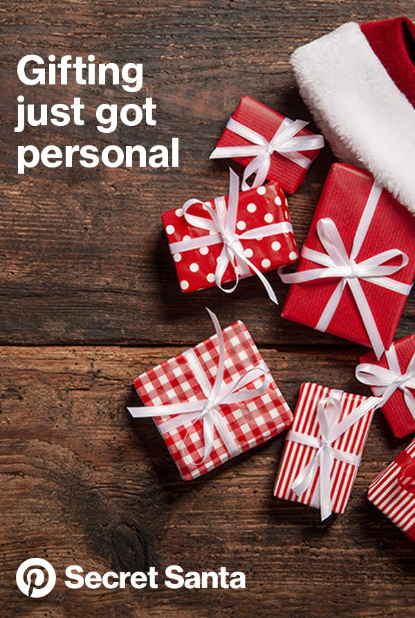 Find personalized gift and holiday ideas for the Pinner in your life. #PinterestSecretSanta