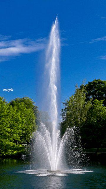water sprinkler pond