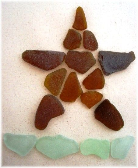 SALE  Real Sea Glass Framed Art  from Puerto RicoWAS 69.99