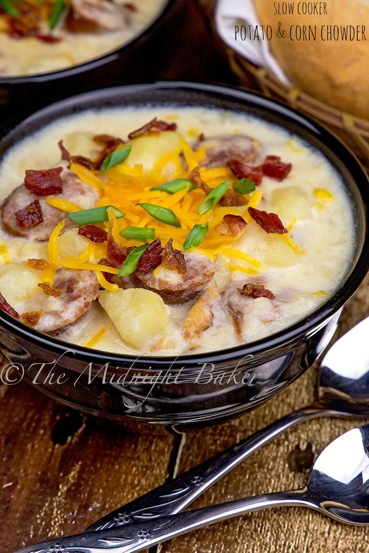 Slow Cooker Potato & Corn Chowder