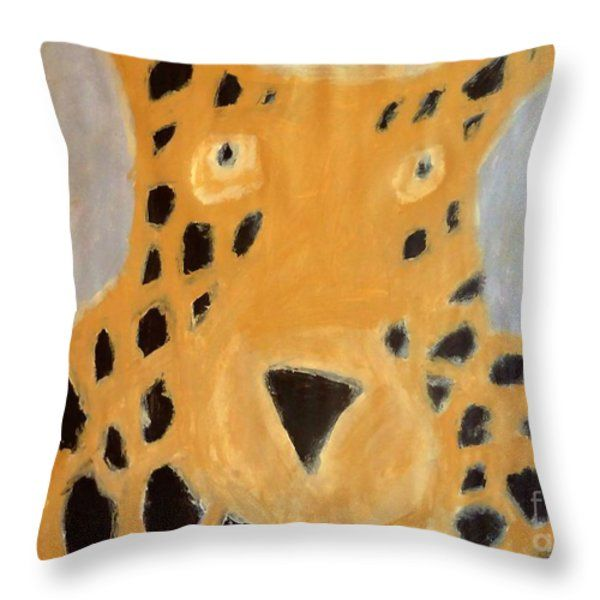 Patrick Francis Throw Pillow featuring the painting Cheetah 2014 by Patrick Francis