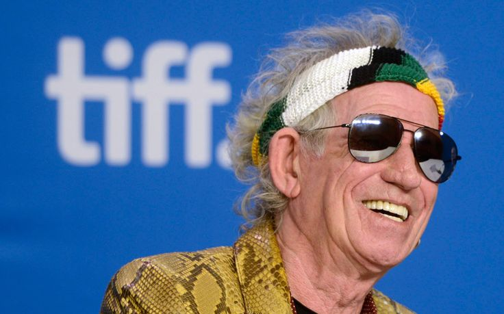 Rolling Stones guitarist Keith Richards smiles during a press conference for the film 'Keith Richards: Under the Influence' at the 2015 Toronto International Film Festival