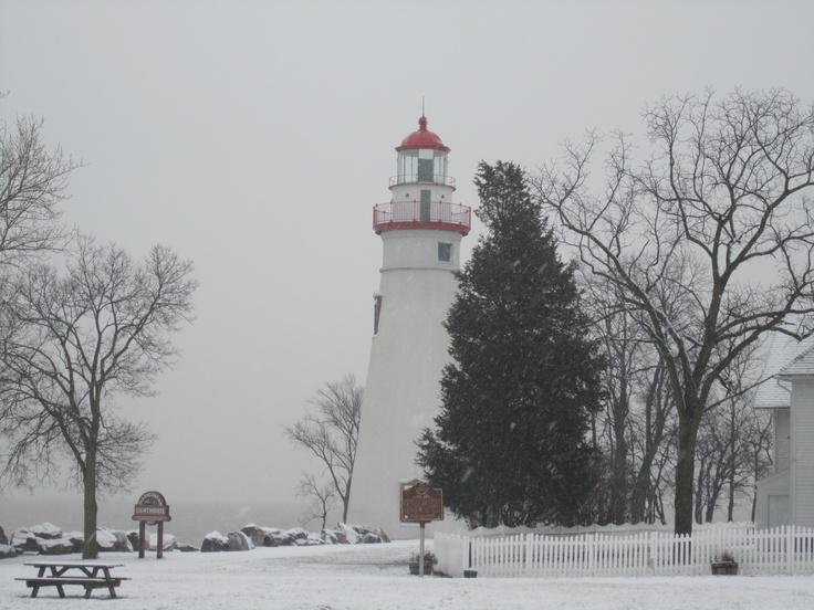 Marblehead Lighthouse in winter. Photos by Kimmy: Photo