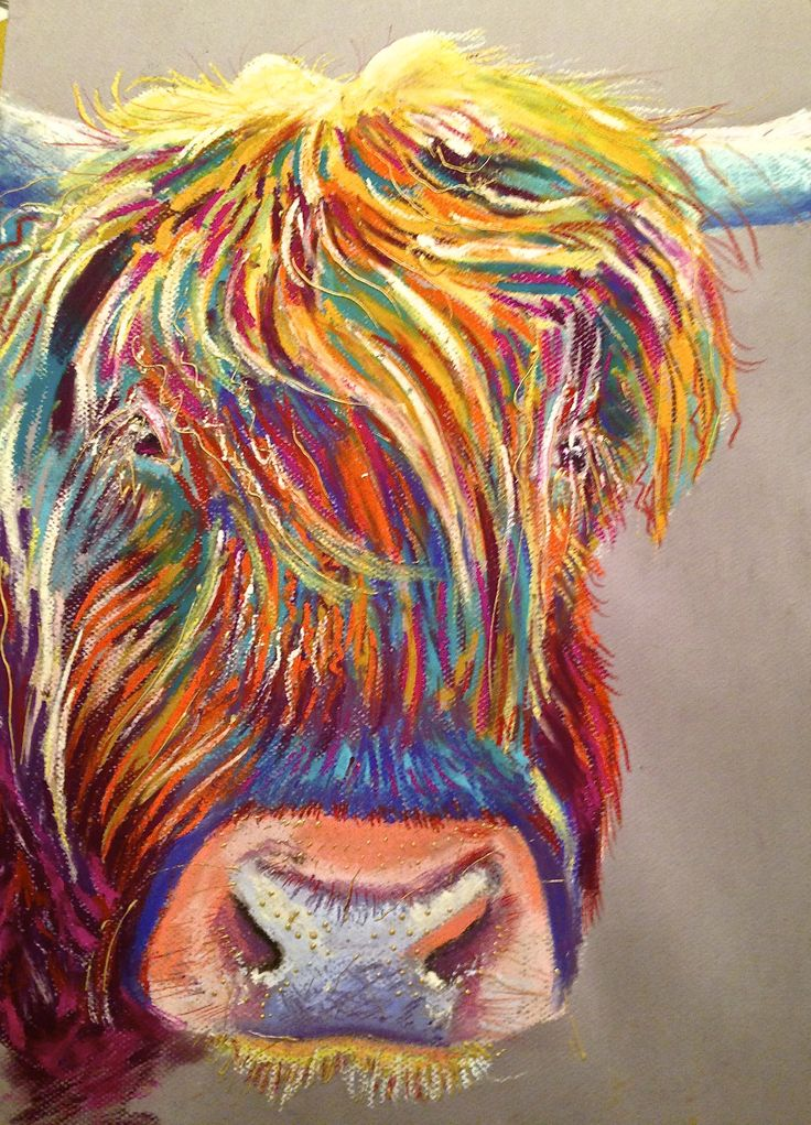 Carnival Coo, Pastels on pastel mat, 35x50 cms approx