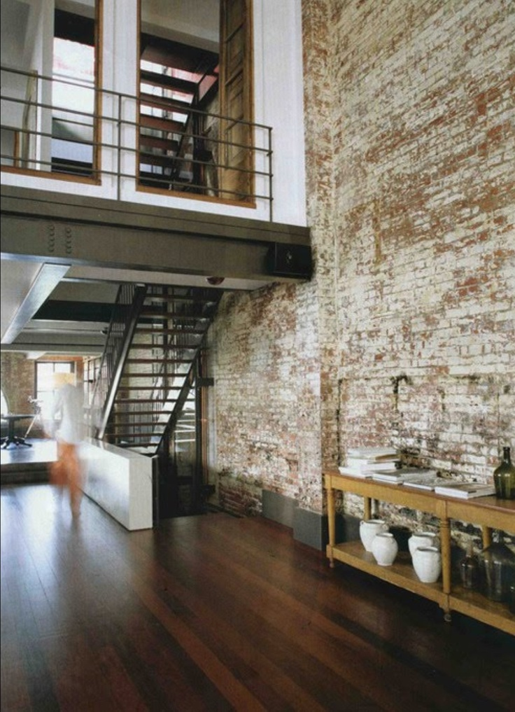 Facebrick feature wall loft inversion industrial - How much do interior designers get paid ...
