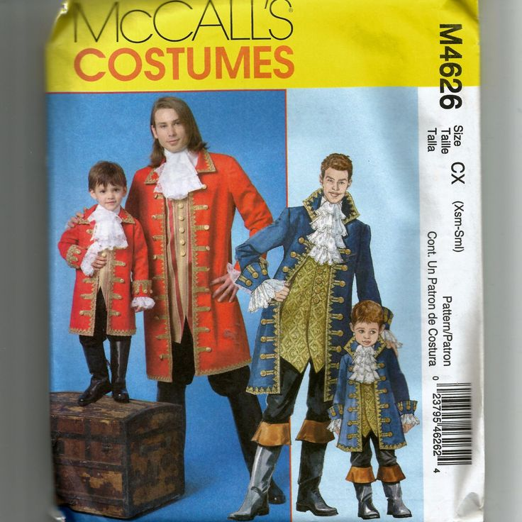 McCall's Men's and Children's Pirate Costume Pattern  M4626 by NewAgain on Etsy
