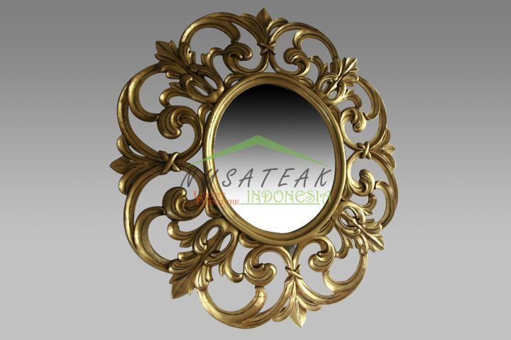 Vivo Antique Gold Leaf Wall Mirror | Luxury Furniture From Indonesia