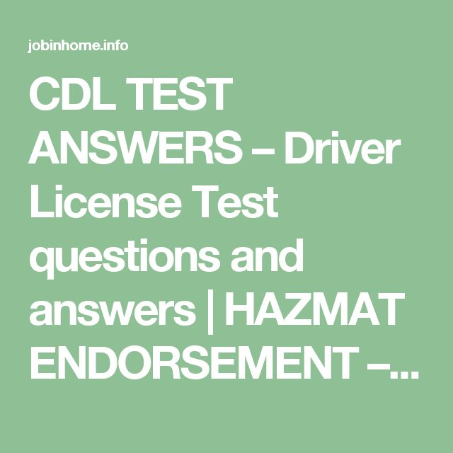 2019 Ohio DMV CDL HazMat. 99% Pass Rate - DMV Written Test