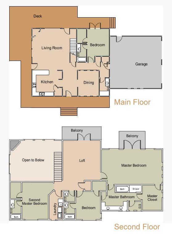 Original Floor Plan For Escape At Zion Vacation Home Ponderosa Ranch ParkLarge HomesZion National