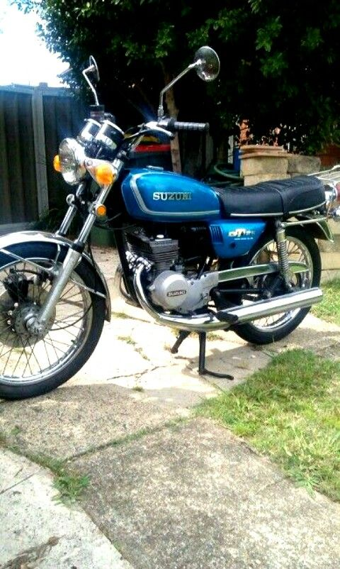 My Suzuki gt125. 1973 . The subject of a slow restoration project.