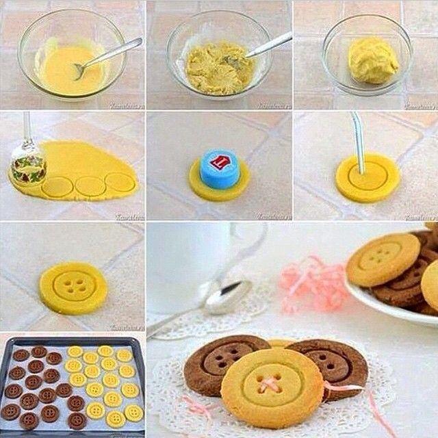 Biscoitos em formato de botões. Via @lojasantoantonio. #showdeideias #ideias…