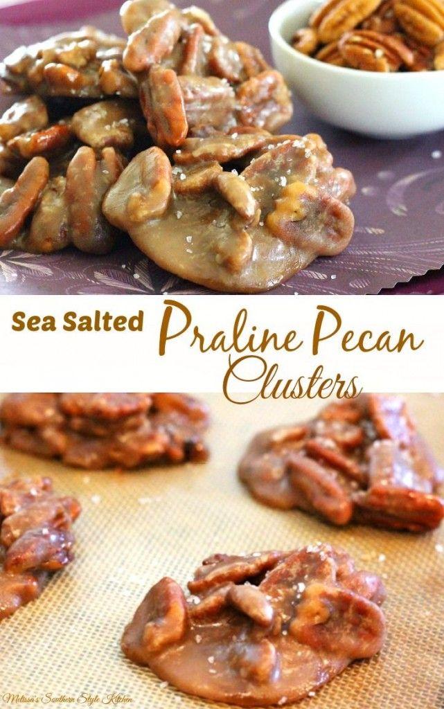 sea salted praline pecan clusters microwave praline pecans easter ...