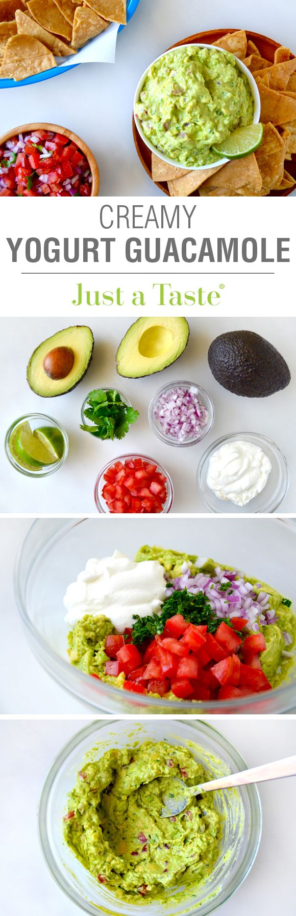 Creamy Greek Yogurt Guacamole #protein #healthy