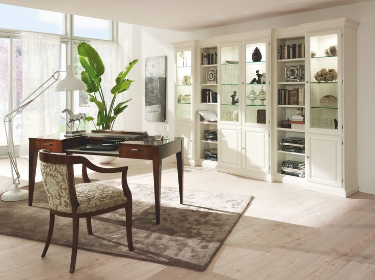 China Cabinet ARENA, Armchair ALICE and Desk NATHAN #SELVA #furniture #chinacabinet #desk #chair #homeoffice