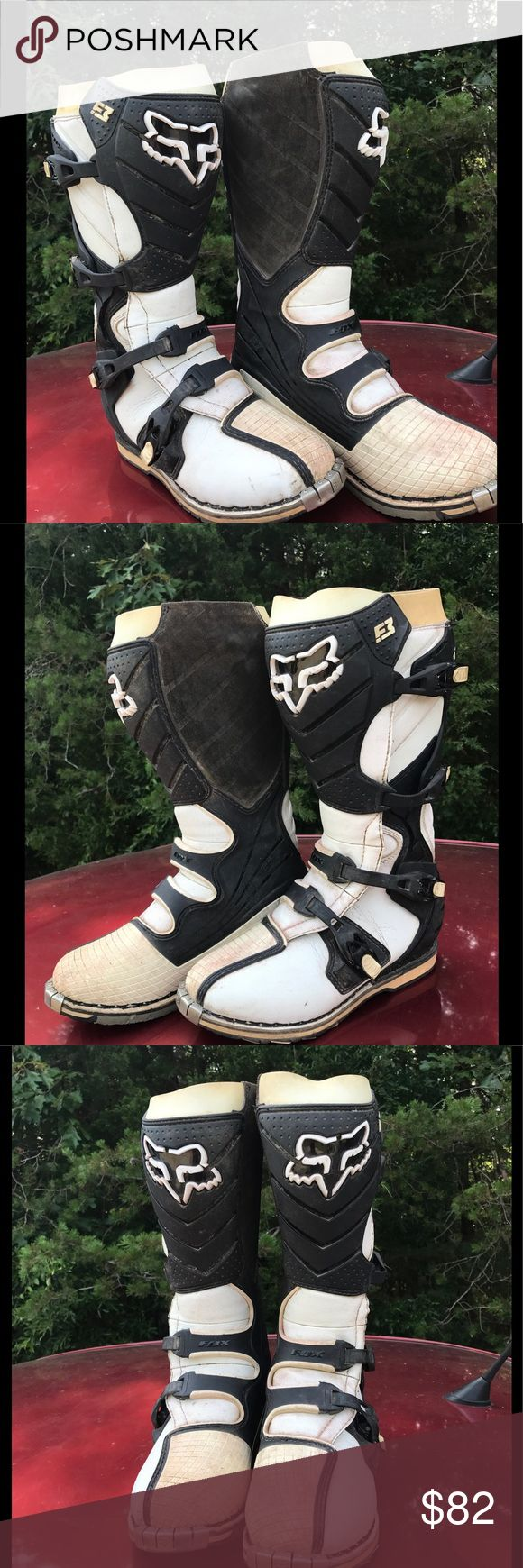 Fox dirt bike racing boots size 10 Fox racing boots, size 10, run a little small in size. Fox Shoes Boots