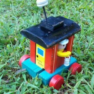 wooden fisher price caboose