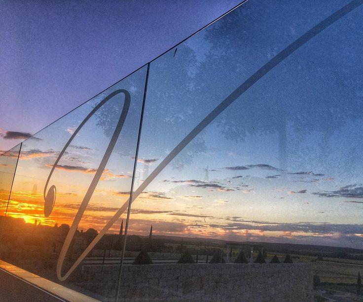 V de Valbusenda mientras se va el sol en los campos de Toro entre viñedos y girasoles  @valbusenda #valbusenda #toro #castillayleon #estaes_castillaleon @estaes_castillaleon #zamora