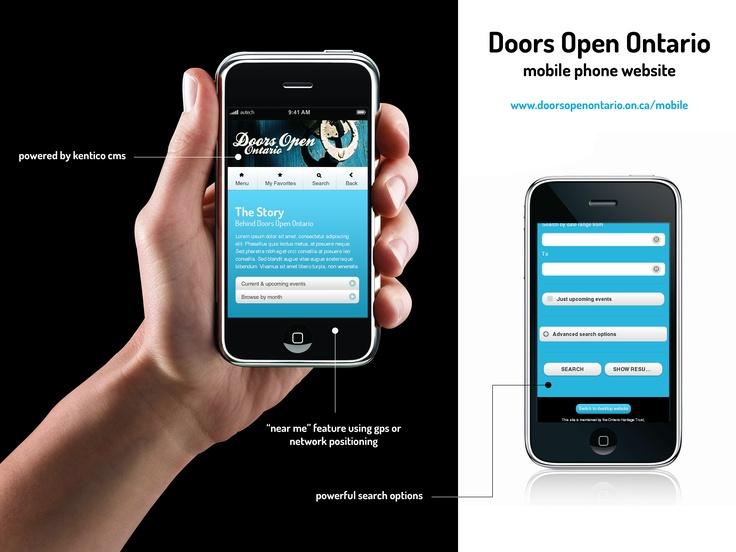 Doors Open Ontario Mobile Website