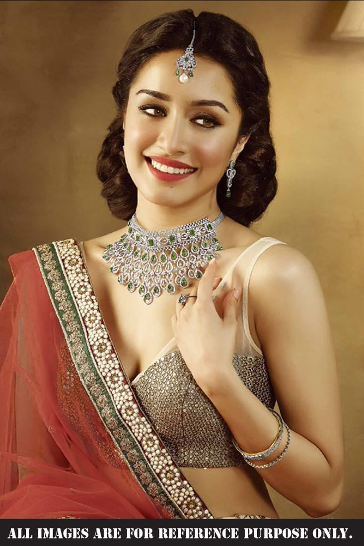 Shraddha Kapoor Chocolate Georgette Replica Lehenga Choli