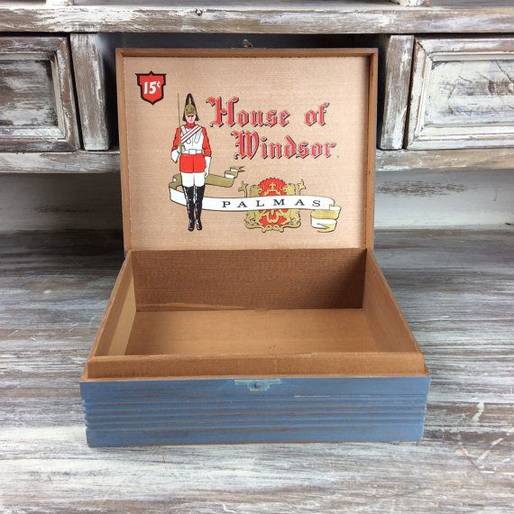 VINTAGE CIGAR BOX For Sale Storage Box Distressed by ShabbyShores