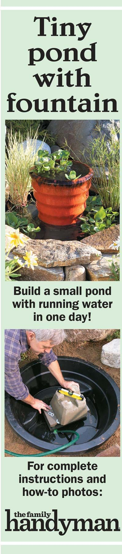 how to build a small fountain