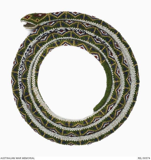 TitleTurkish Prisoner of War beadwork snake