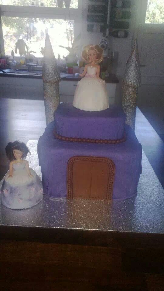 Prinsesse slot-kage til datterens 4 års fødselsdag