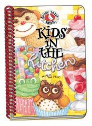 Kids in the Kitchen Cookbook - easy recipes for kids - Daughter is cooking a recipe - cookbook by @Fiona I Like Gooseberries Patch