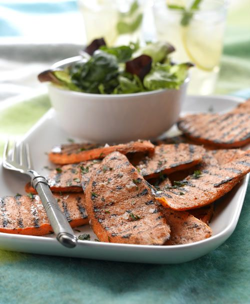 Grilled Spiced Sweet Potato Slices!