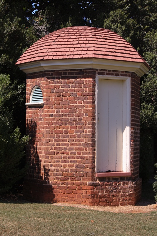 one of two octagonal brick privies at jeffersons home in poplar forest virginia