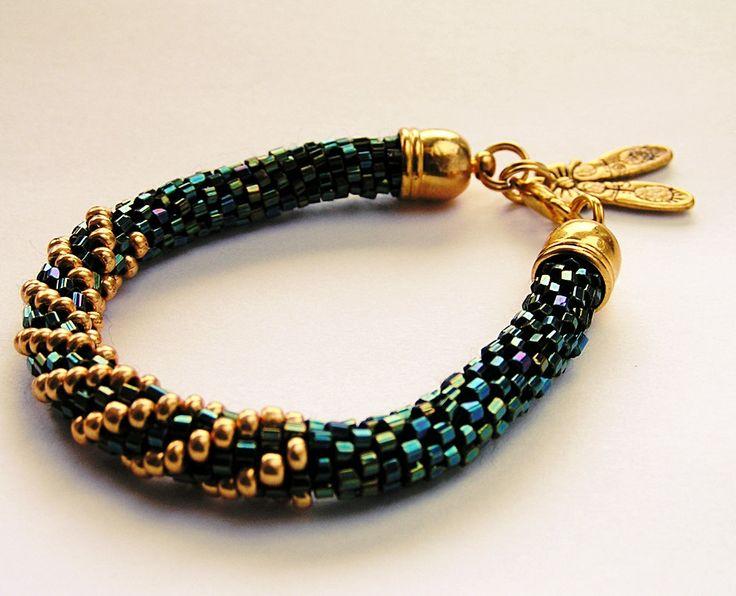 "SHINE ""GOLD RAINBOW"" magic bead bracelet. by SHINEmagicJewellery on Etsy"