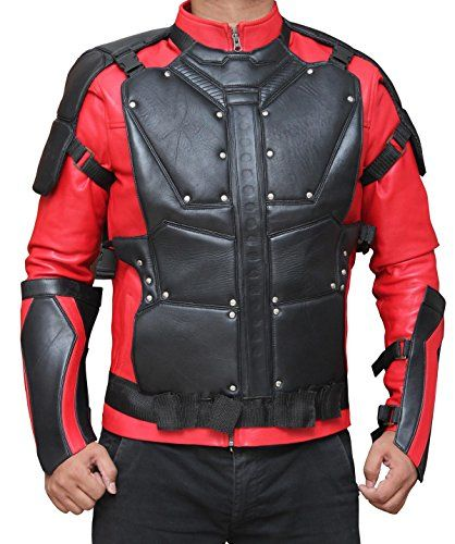 Suicide Squad Deadshot Will Smith Costume Jacket (M, Red ...
