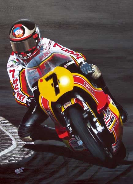 Sheene's battle with Kenny Roberts at the 1979 British Grand Prix at Silverstone has been cited as one of the greatest motorcycle Grand Prix races of the 1970s. After the 1979 season, he left the Heron-Suzuki factory team, believing that he was receiving inferior equipment to his team-mates. He shifted to a privateer on a Yamaha machine, but soon started receiving works equipment.