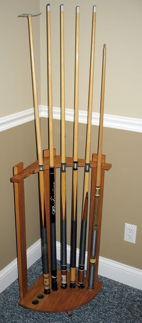Pool Cue Stand - The Dale Maley Family Web Site