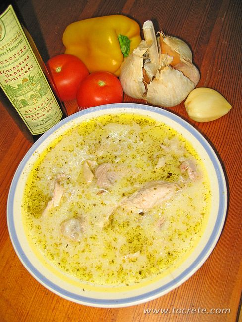 Котосупа - куриный суп по-гречески