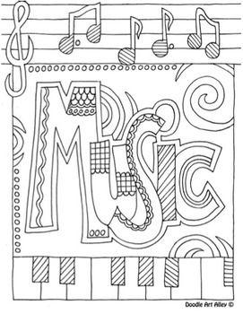 FREE MUSIC COLORING PAGES - TeachersPayTeachers.com
