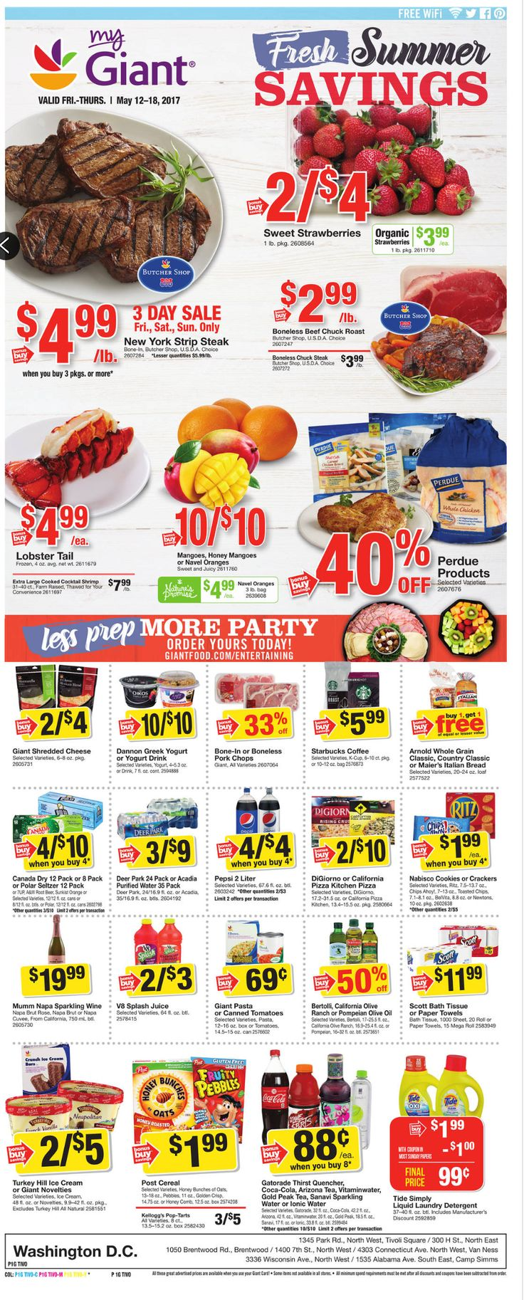 Giant Food Weekly Ad May 12 - 18, 2017 - http://www.olcatalog.com/grocery/giant-food-weekly-ad.html