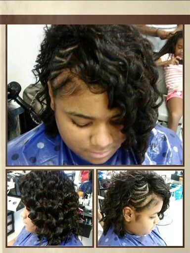 Half Sew in Mohawk with Braids