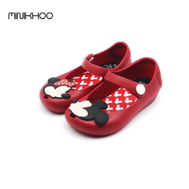 Hot Deals $7.64, Buy Mickey & Minnie Shoes Kids Girls Sandals Crystal Jelly Shoes Melissa Sandals Child Mini Melissa Cute Baby Girl Sandals 13-17cm