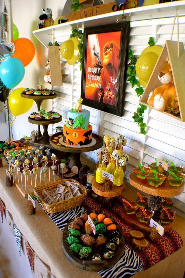disney-lion-king-first-birthday-party-via-little-wish ...