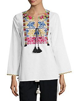 FIGUE - Renata Embroidered Top