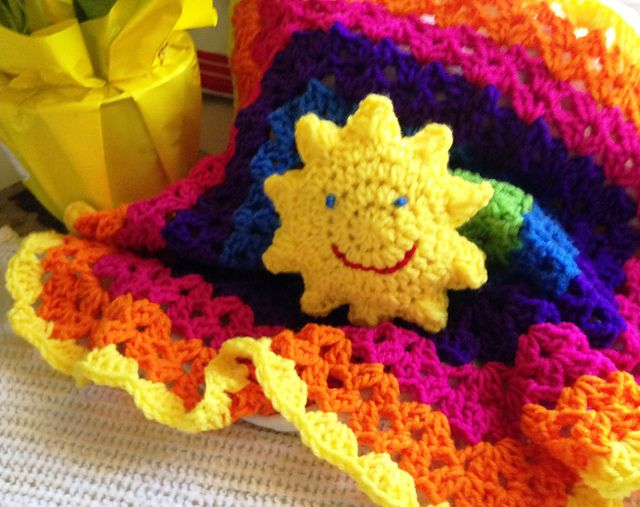 Free Crochet Pattern For You Are My Sunshine Blanket : krikket207s You Are My Sunshine crochet lovey Free ...