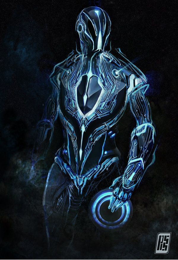 Tron style character art