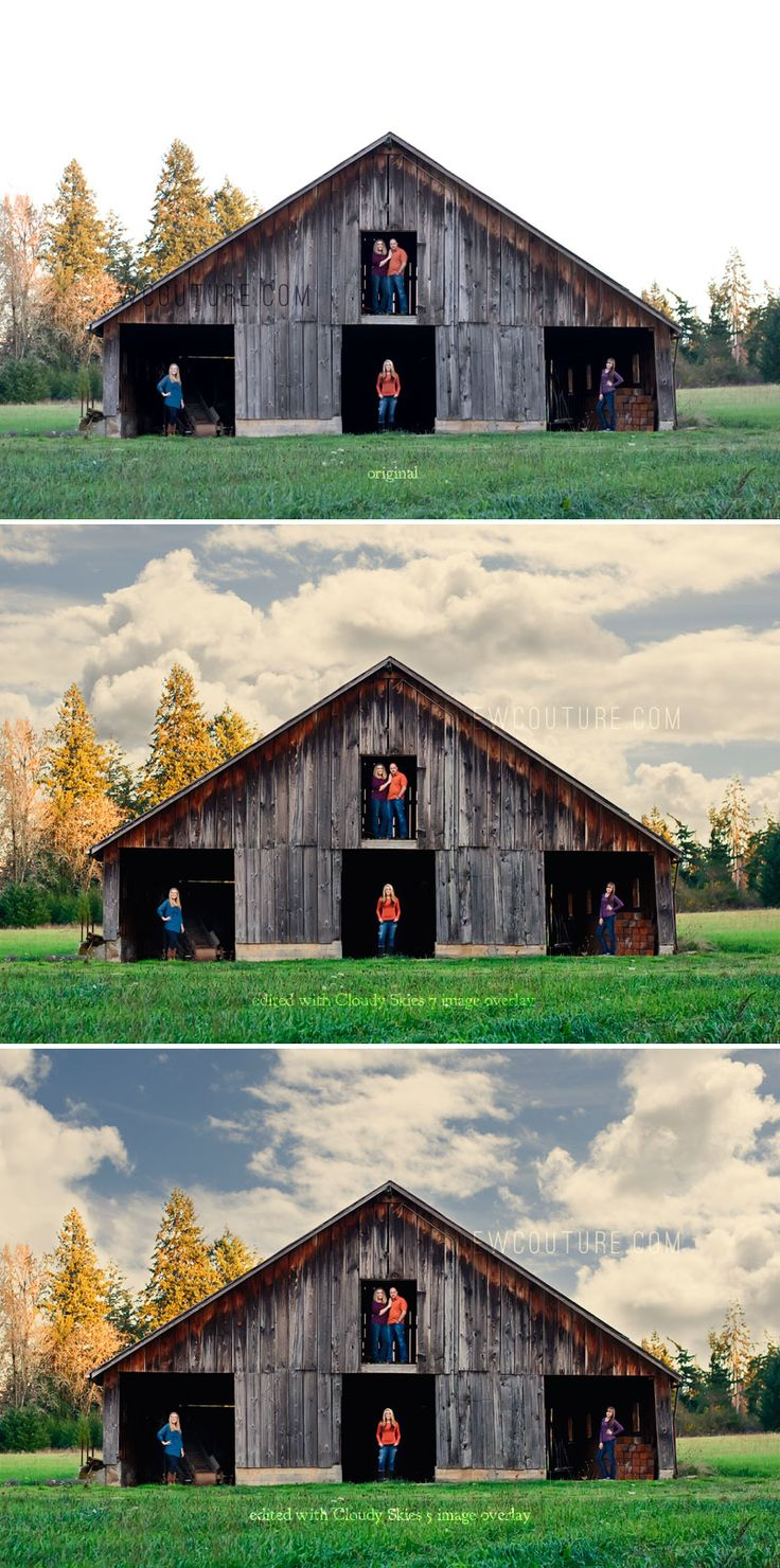 How to add clouds to an image in Photoshop.